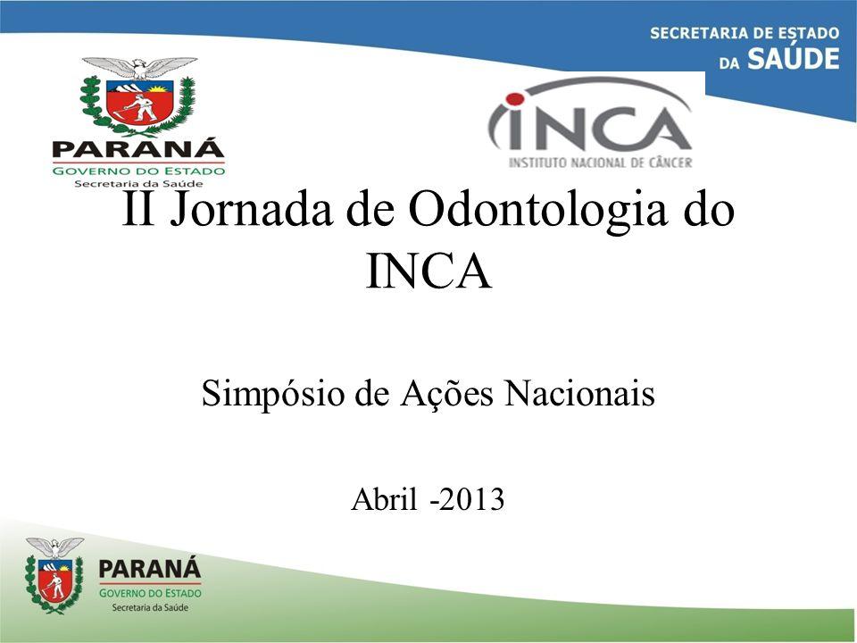 II Jornada de Odontologia do INCA