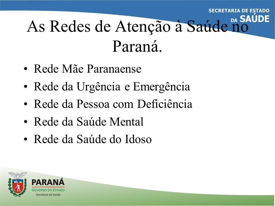 As Redes de Atenção à Saúde no Paraná.
