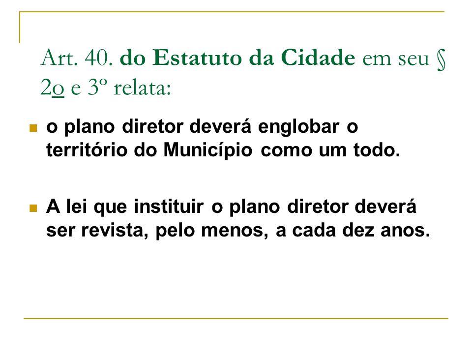 Art. 40. do Estatuto da Cidade em seu § 2o e 3º relata: