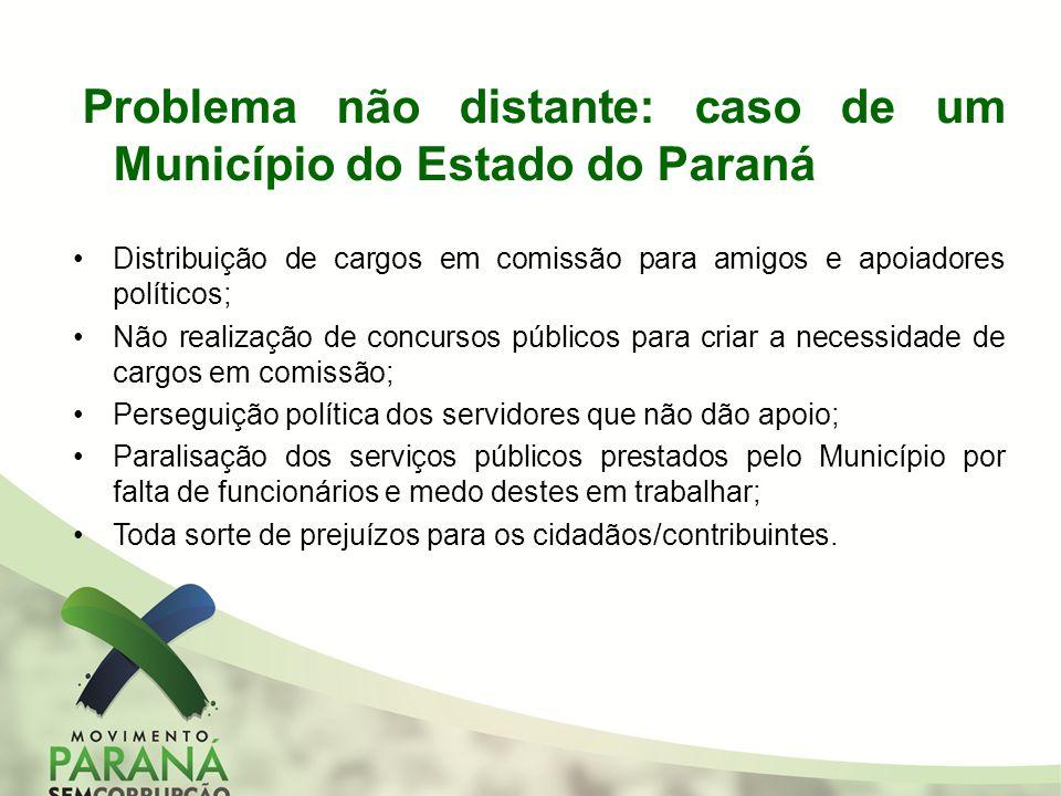 Problema não distante: caso de um Município do Estado do Paraná