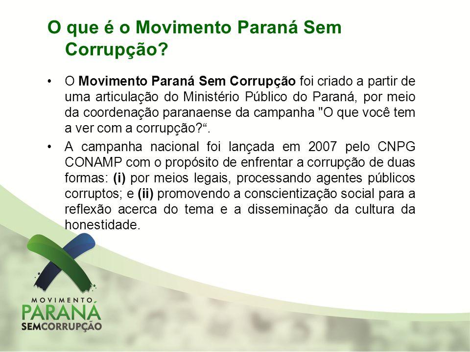 O que é o Movimento Paraná Sem Corrupção