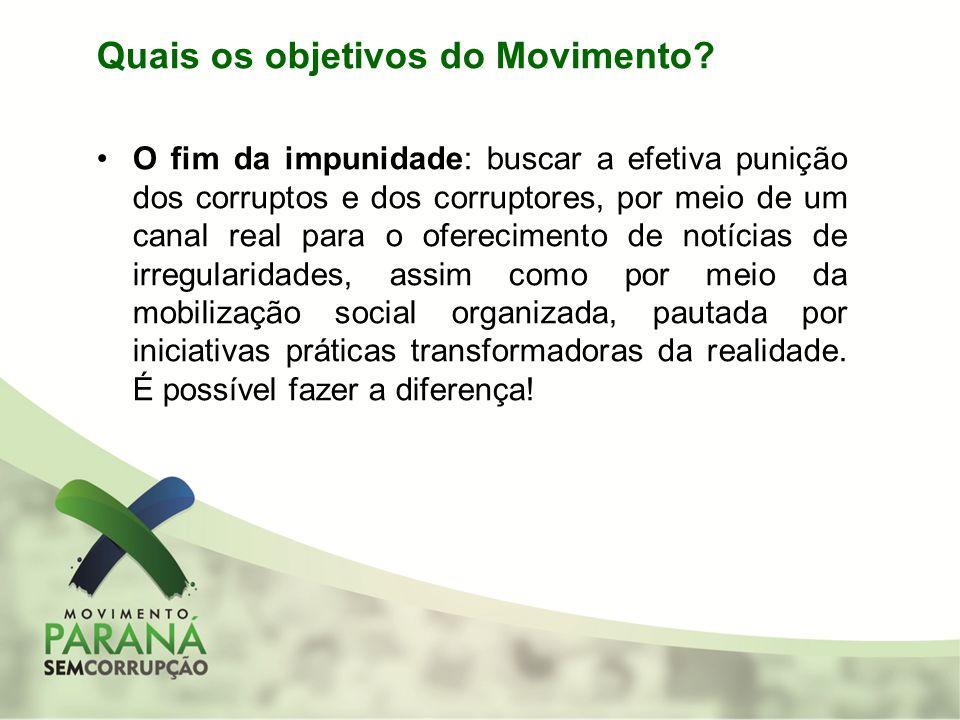 Quais os objetivos do Movimento