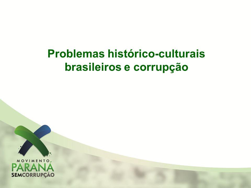 Problemas histórico-culturais brasileiros e corrupção
