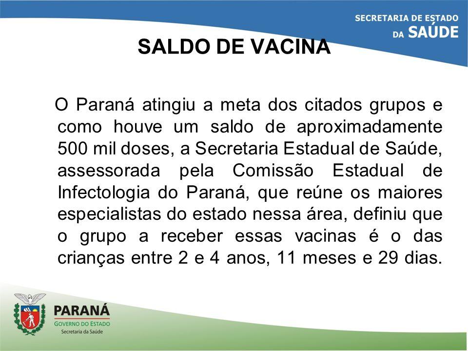 SALDO DE VACINA