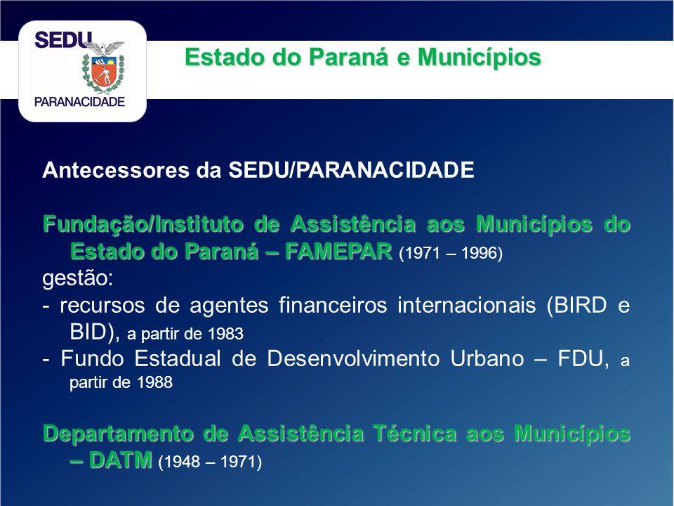 Estado do Paraná e Municípios