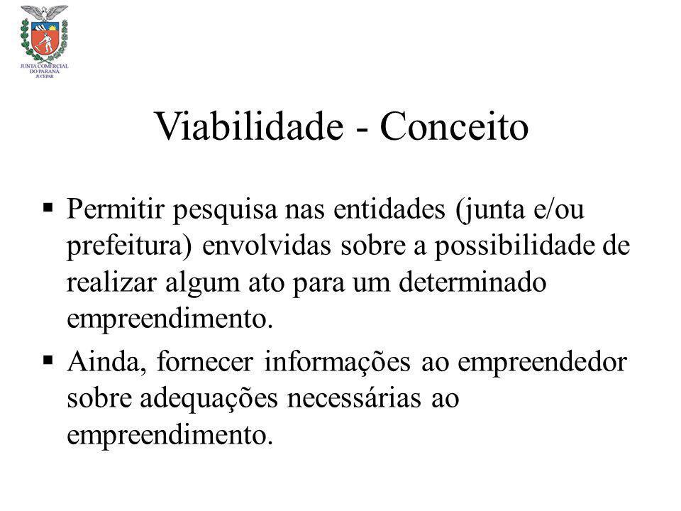 Viabilidade - Conceito