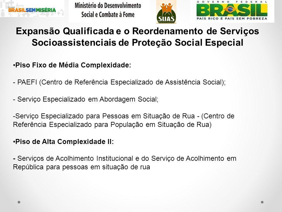 Expansão Qualificada e o Reordenamento de Serviços Socioassistenciais de Proteção Social Especial