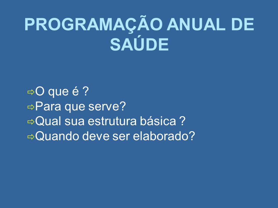 PROGRAMAÇÃO ANUAL DE SAÚDE