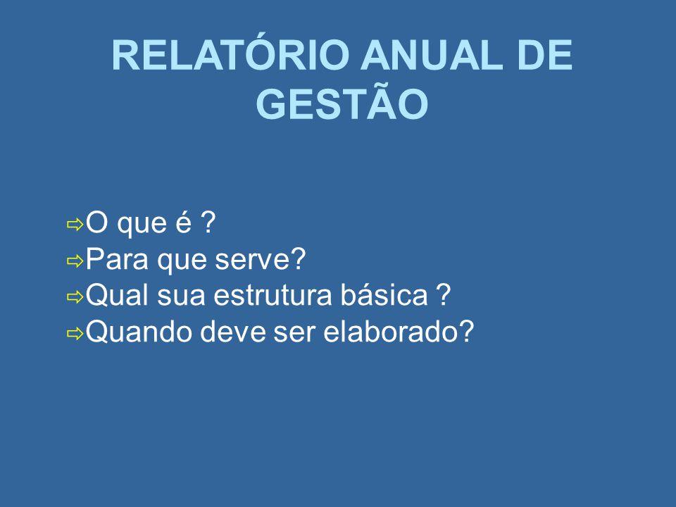 RELATÓRIO ANUAL DE GESTÃO
