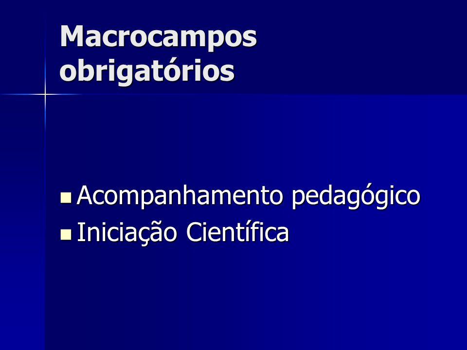 Macrocampos obrigatórios