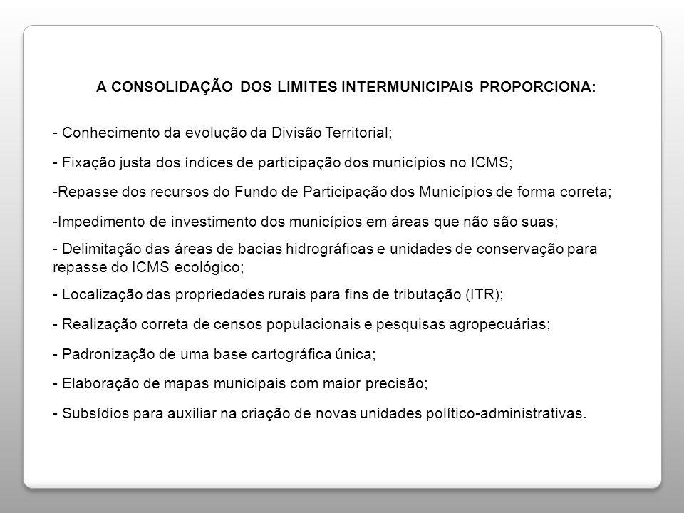 - Fixação justa dos índices de participação dos municípios no ICMS;