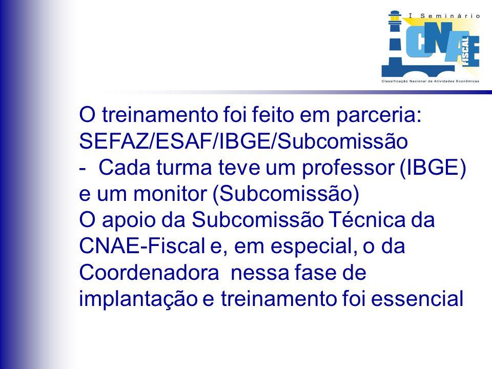 Treinamento: de fundamental importância para o sucesso da implantação da CNAE-Fiscal