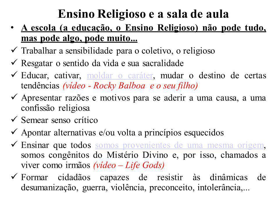 Ensino Religioso e a sala de aula