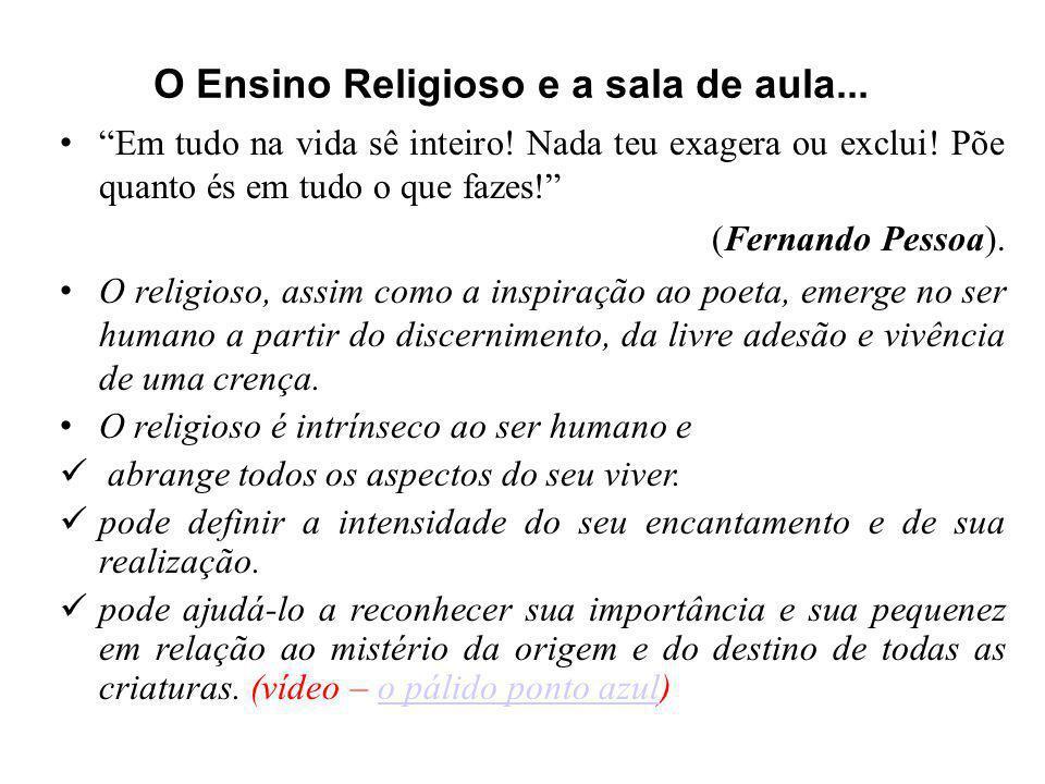 O Ensino Religioso e a sala de aula...