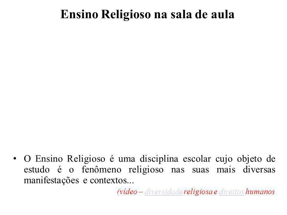 Ensino Religioso na sala de aula