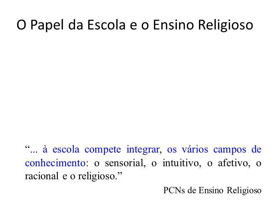 O Papel da Escola e o Ensino Religioso