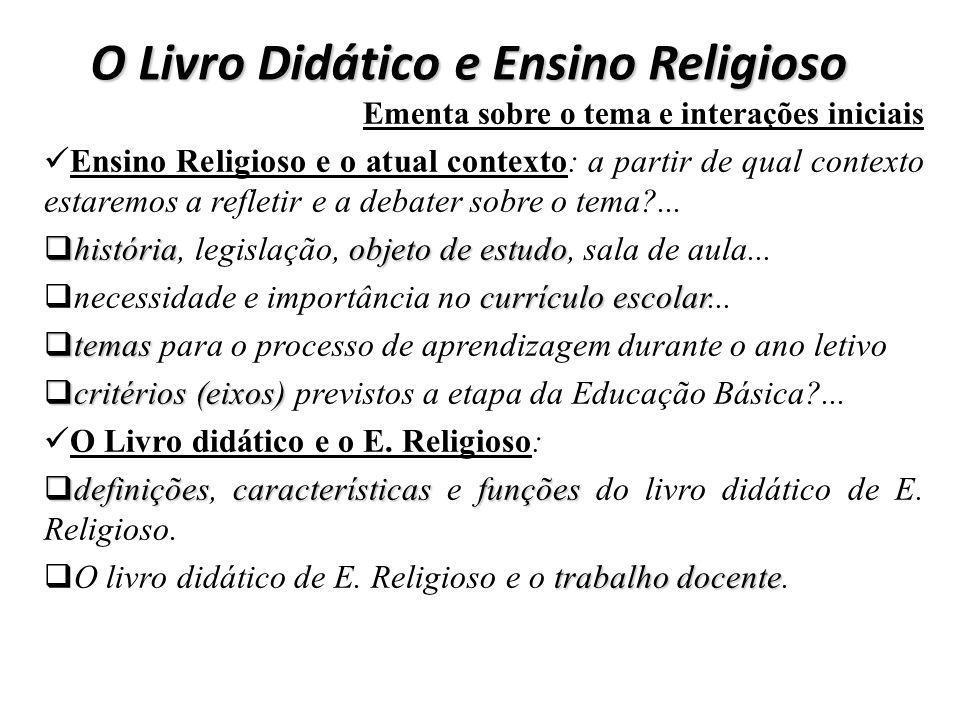 O Livro Didático e Ensino Religioso