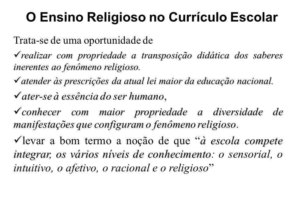 O Ensino Religioso no Currículo Escolar