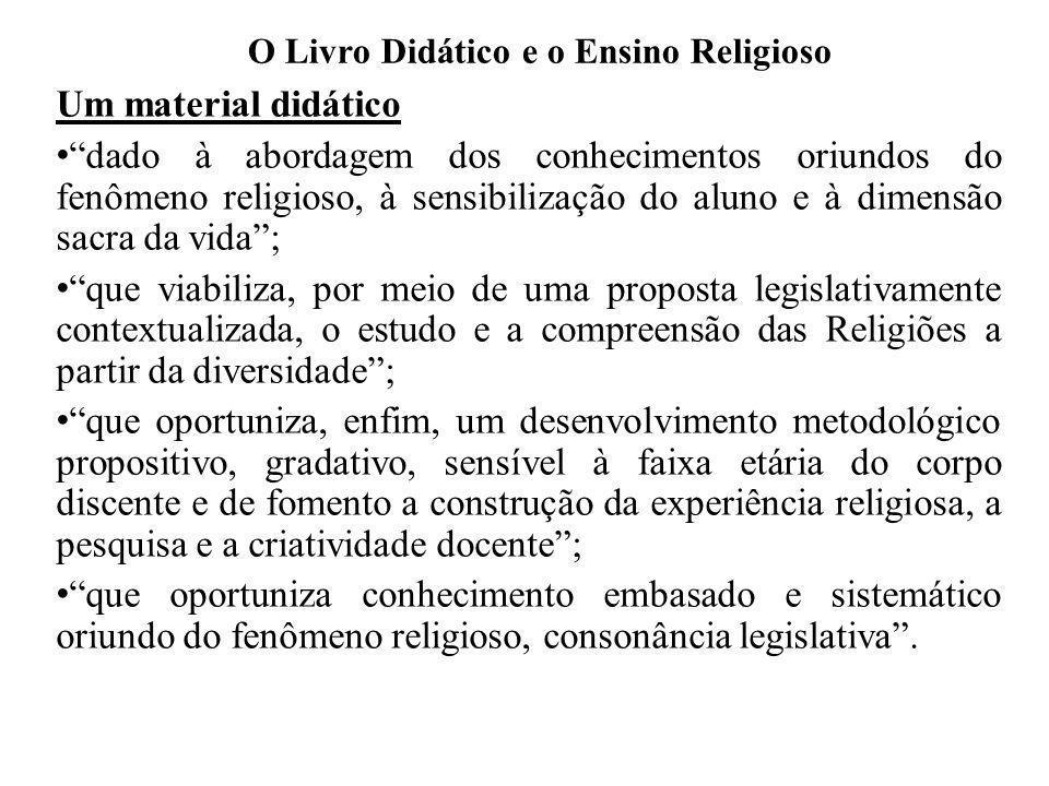 O Livro Didático e o Ensino Religioso