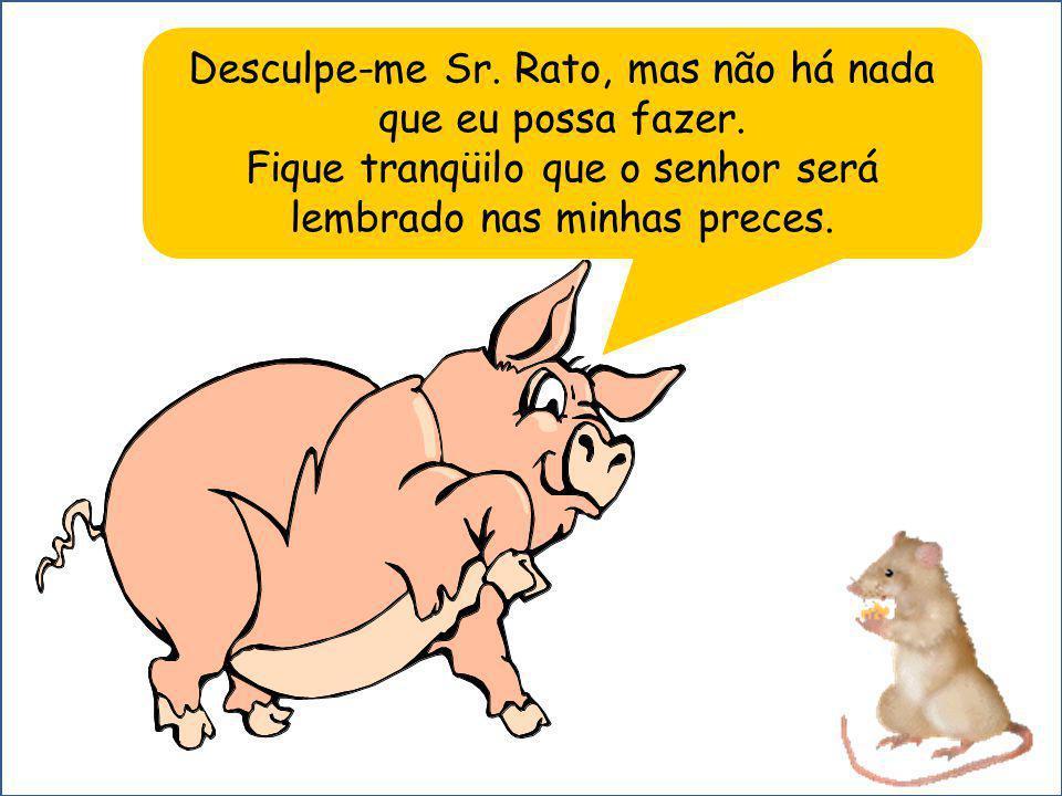 Desculpe-me Sr. Rato, mas não há nada que eu possa fazer.
