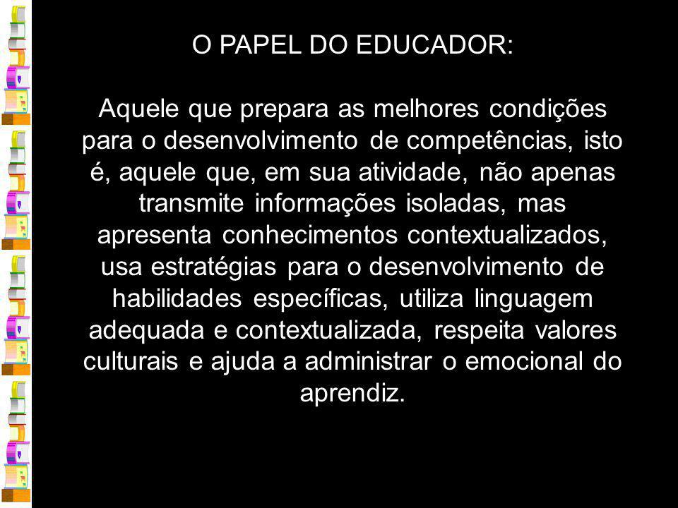O PAPEL DO EDUCADOR: