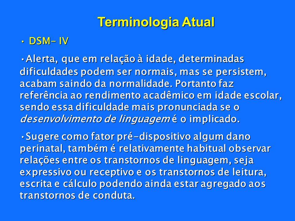 Terminologia Atual DSM- IV