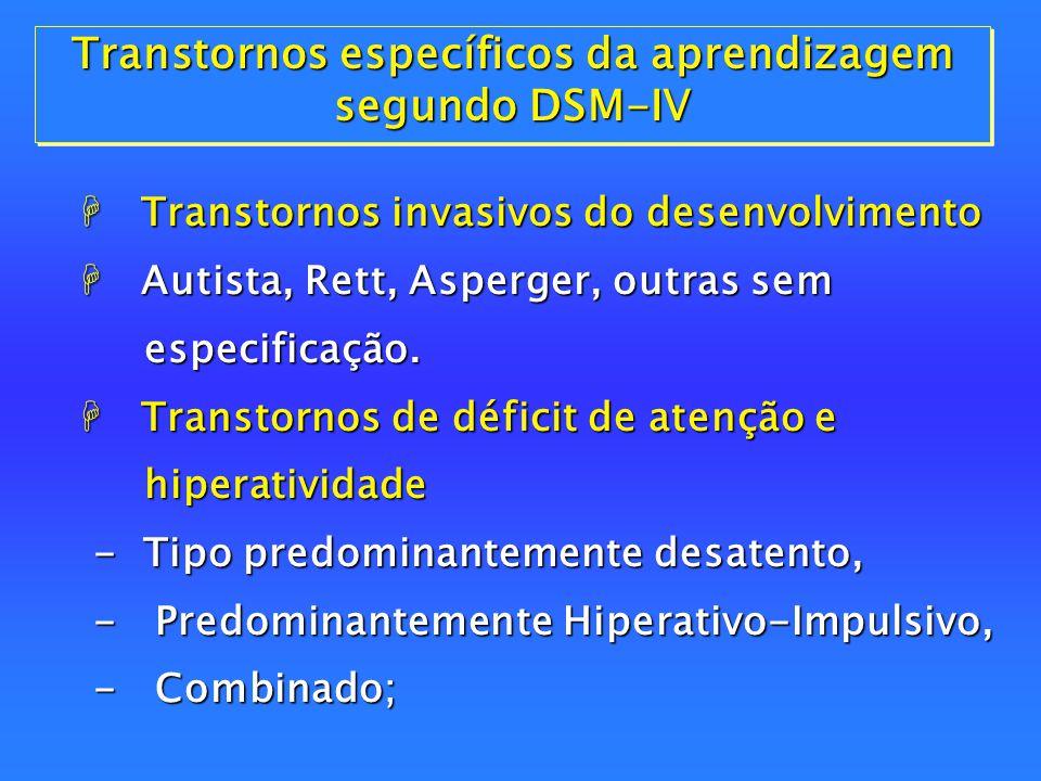 Transtornos específicos da aprendizagem