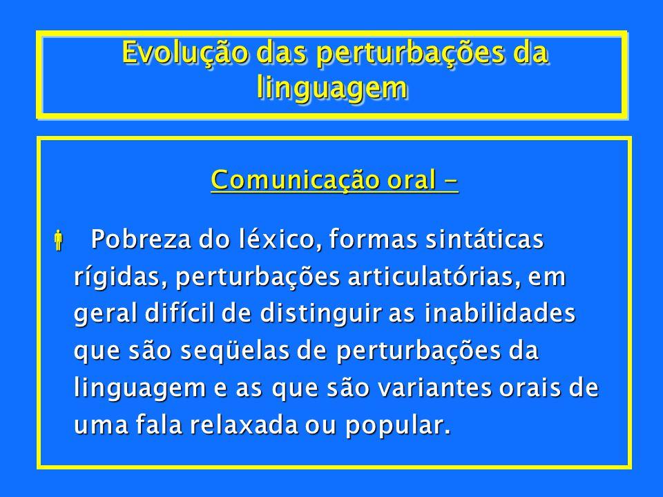 Evolução das perturbações da linguagem