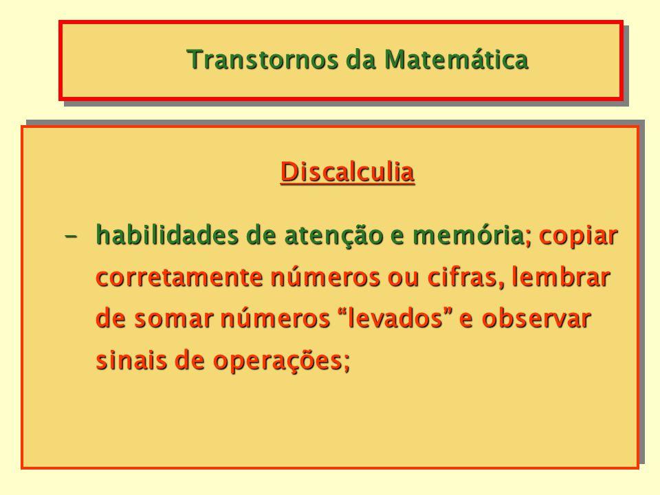 Transtornos da Matemática