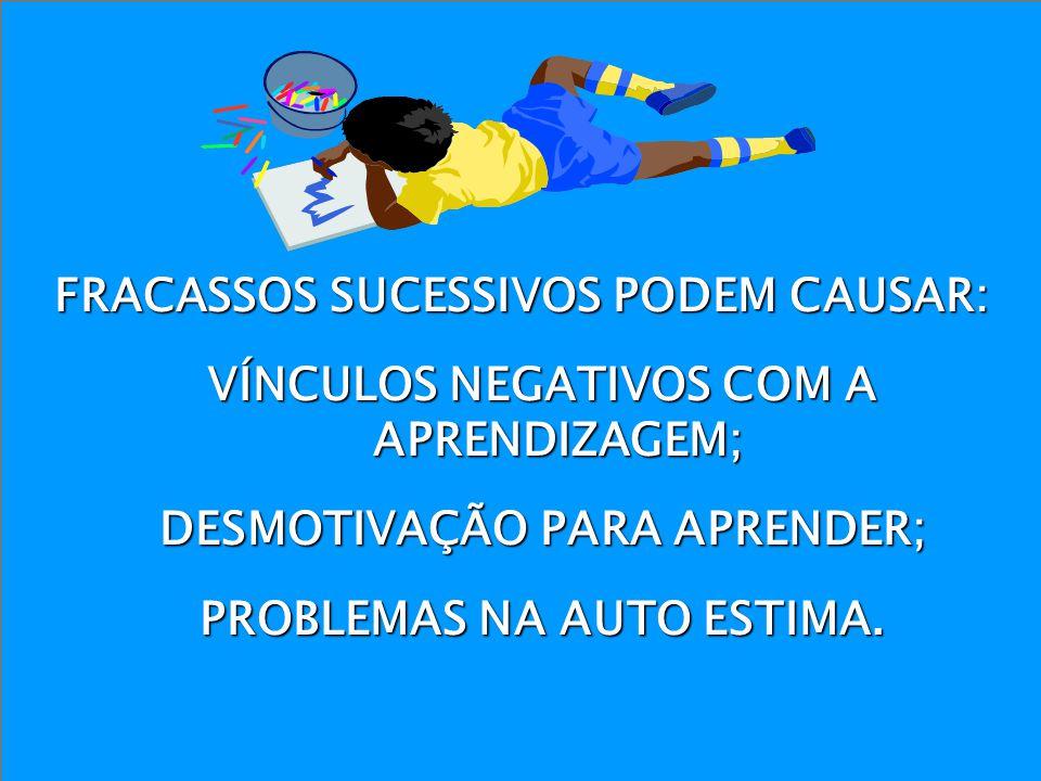 FRACASSOS SUCESSIVOS PODEM CAUSAR: