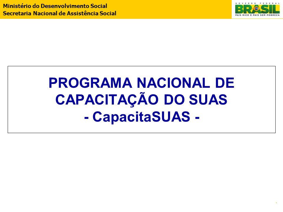 PROGRAMA NACIONAL DE CAPACITAÇÃO DO SUAS - CapacitaSUAS -