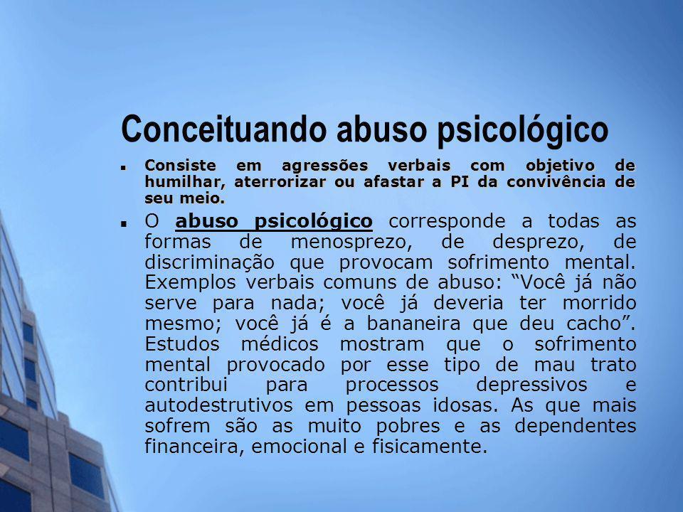 Conceituando abuso psicológico