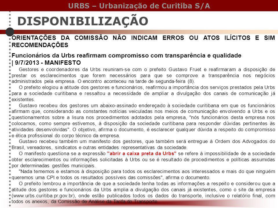 DISPONIBILIZAÇÃO ORIENTAÇÕES DA COMISSÃO NÃO INDICAM ERROS OU ATOS ILÍCITOS E SIM RECOMENDAÇÕES.