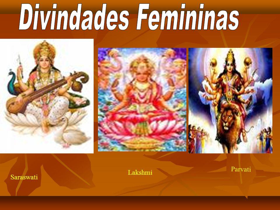 Divindades Femininas Parvati Lakshmi Saraswati