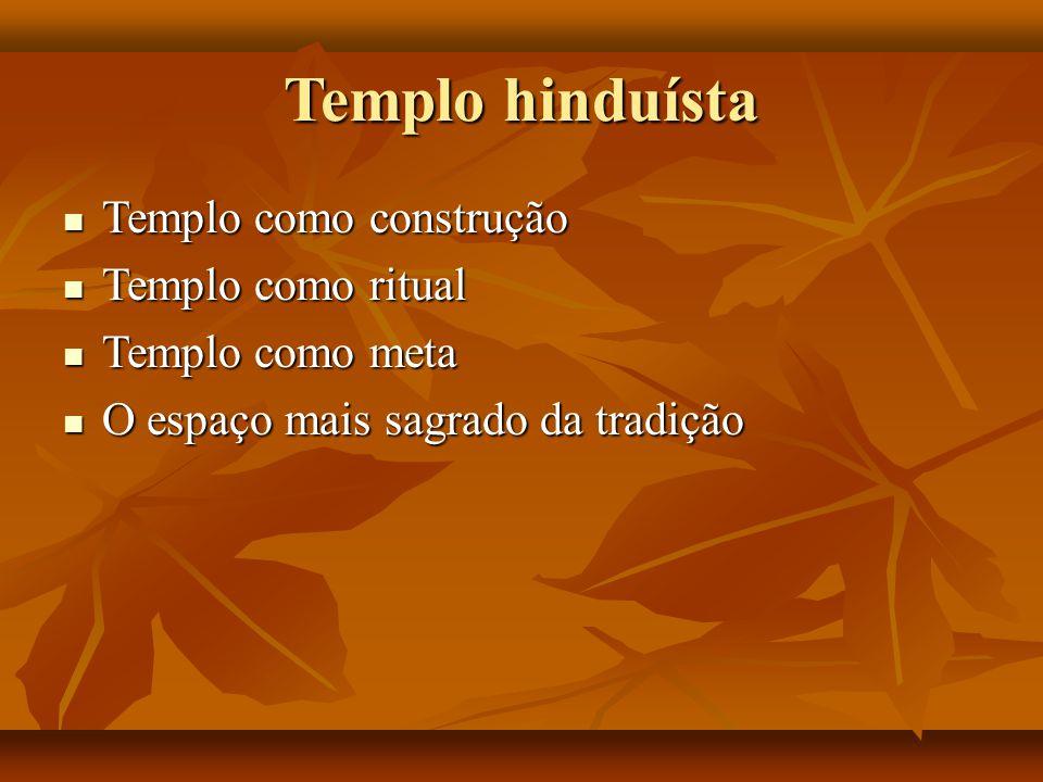Templo hinduísta Templo como construção Templo como ritual