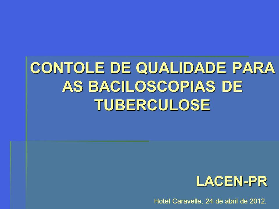 CONTOLE DE QUALIDADE PARA AS BACILOSCOPIAS DE TUBERCULOSE