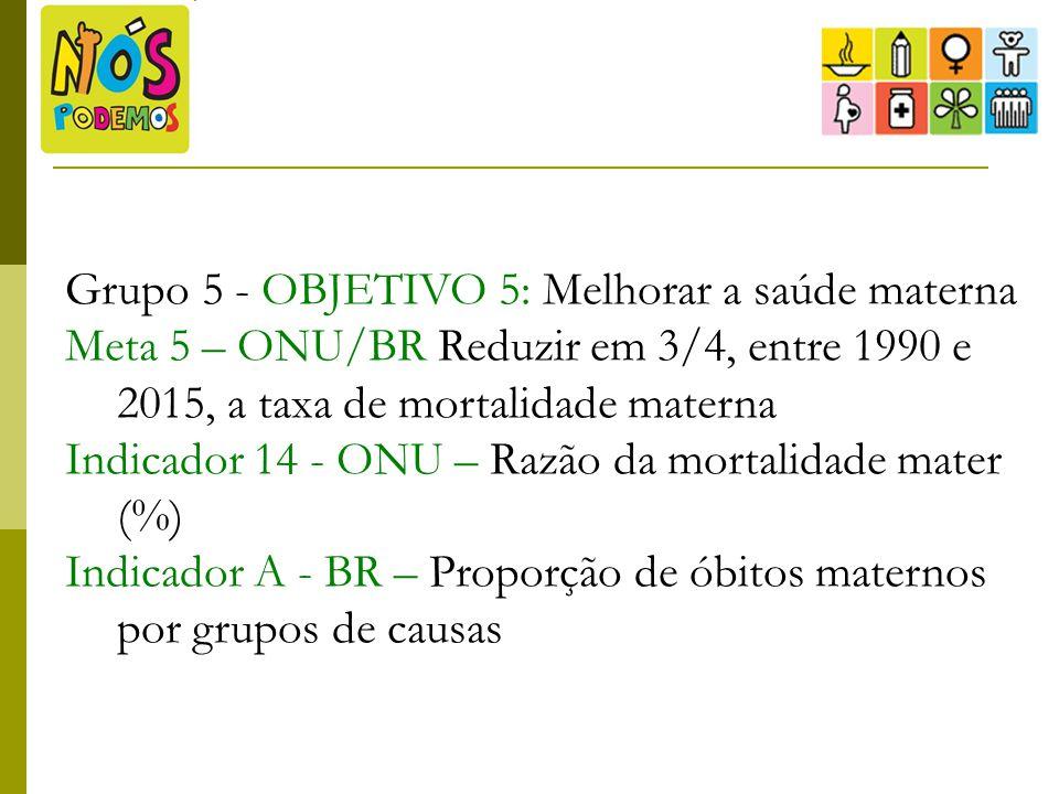 Grupo 5 - OBJETIVO 5: Melhorar a saúde materna
