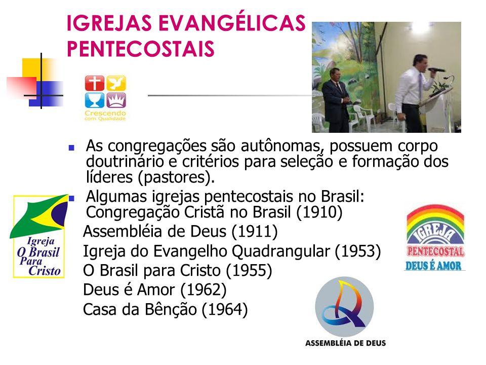 IGREJAS EVANGÉLICAS PENTECOSTAIS