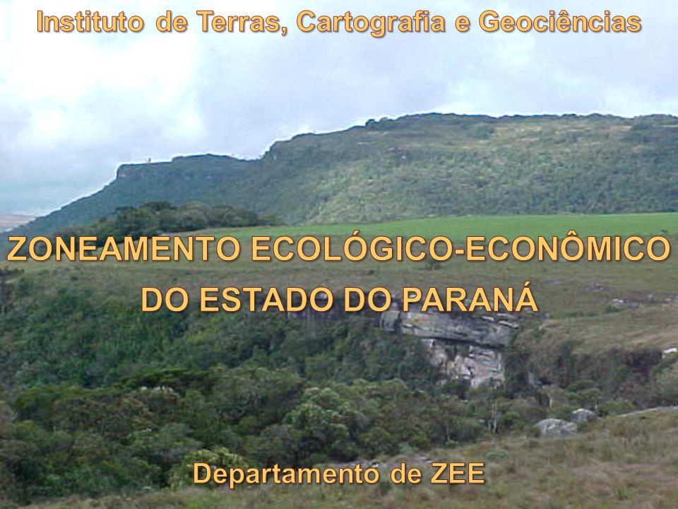 ZONEAMENTO ECOLÓGICO-ECONÔMICO DO ESTADO DO PARANÁ