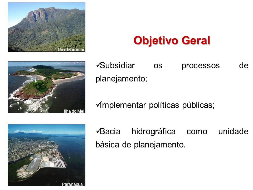 Objetivo Geral Subsidiar os processos de planejamento;