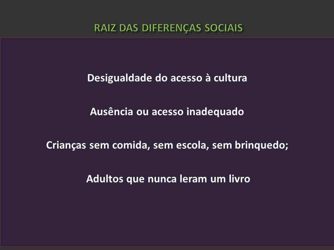 RAIZ DAS DIFERENÇAS SOCIAIS