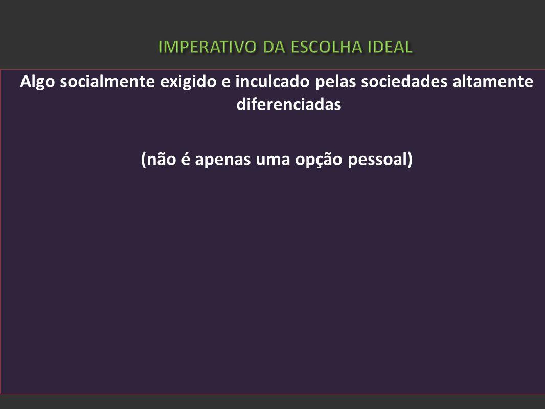 IMPERATIVO DA ESCOLHA IDEAL