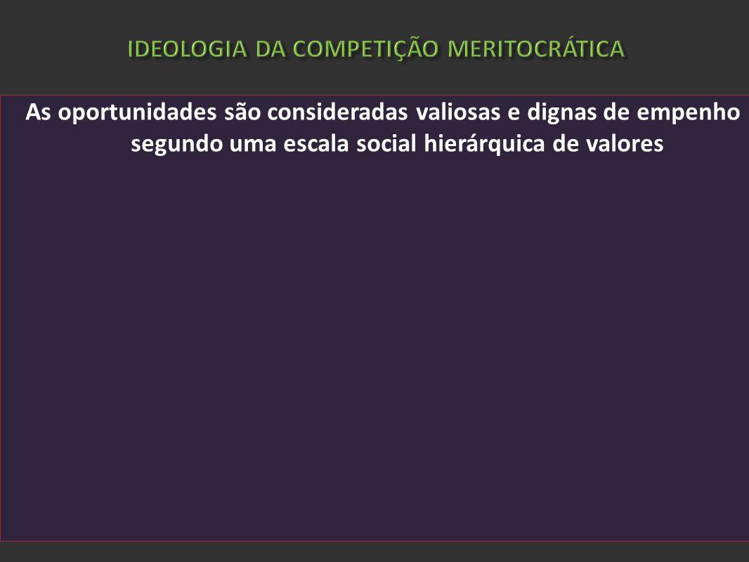 IDEOLOGIA DA COMPETIÇÃO MERITOCRÁTICA