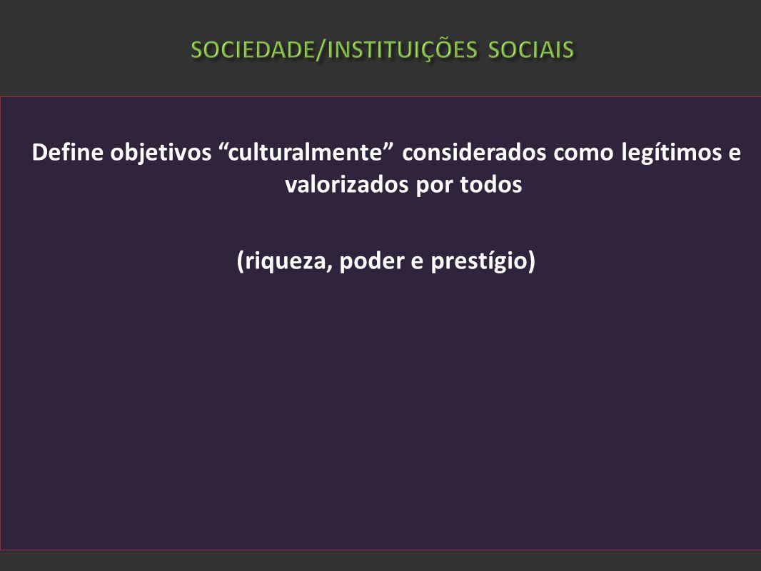 SOCIEDADE/INSTITUIÇÕES SOCIAIS