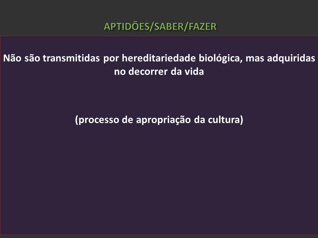 APTIDÕES/SABER/FAZER