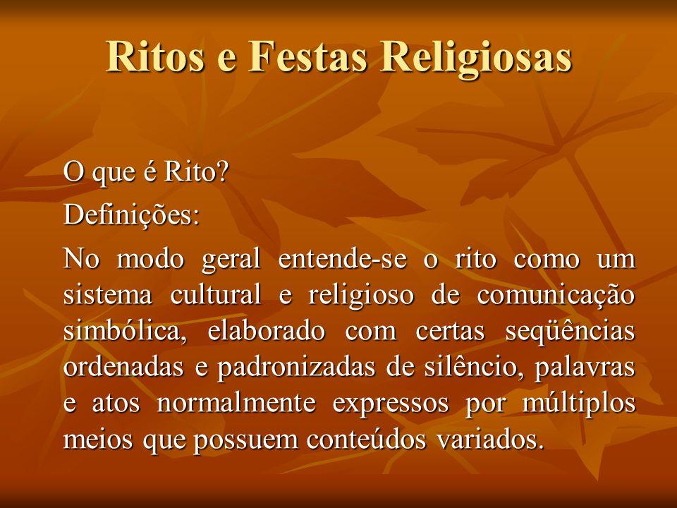 Ritos e Festas Religiosas