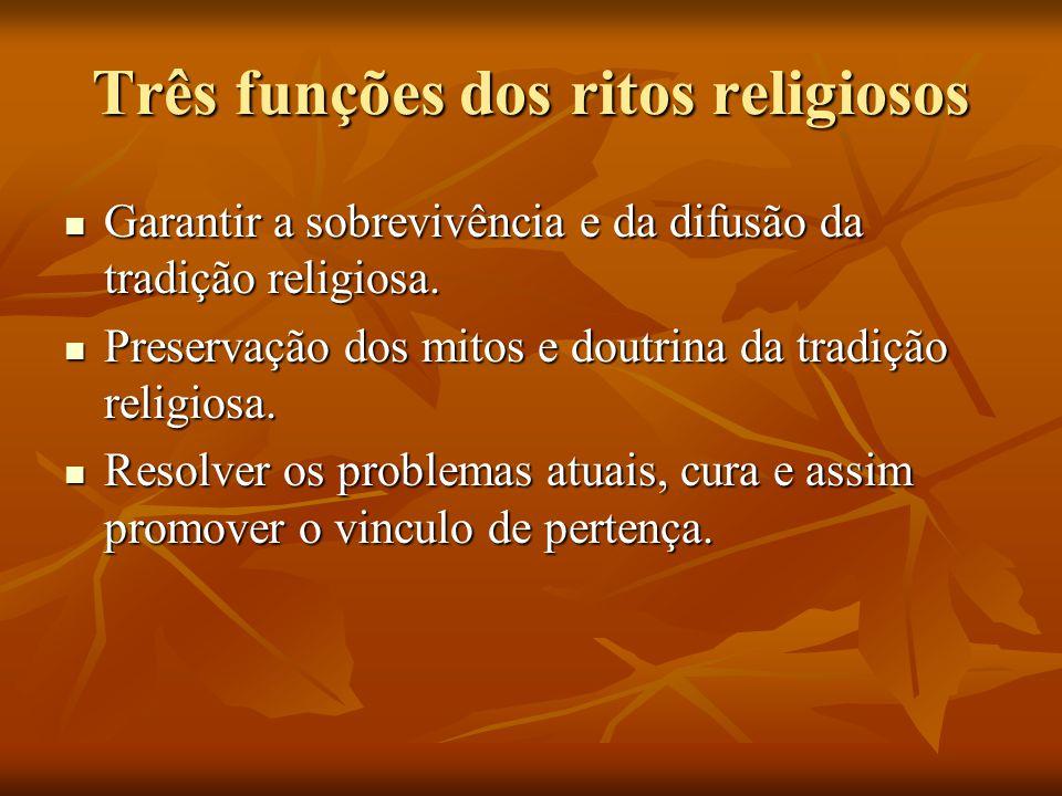 Três funções dos ritos religiosos