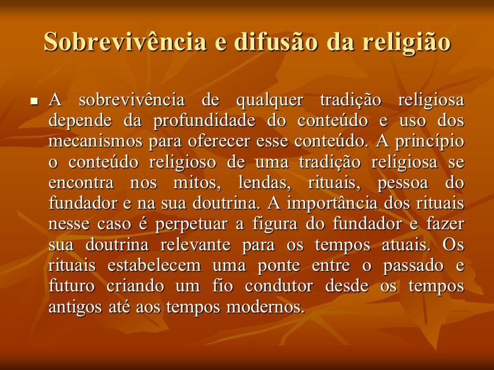 Sobrevivência e difusão da religião