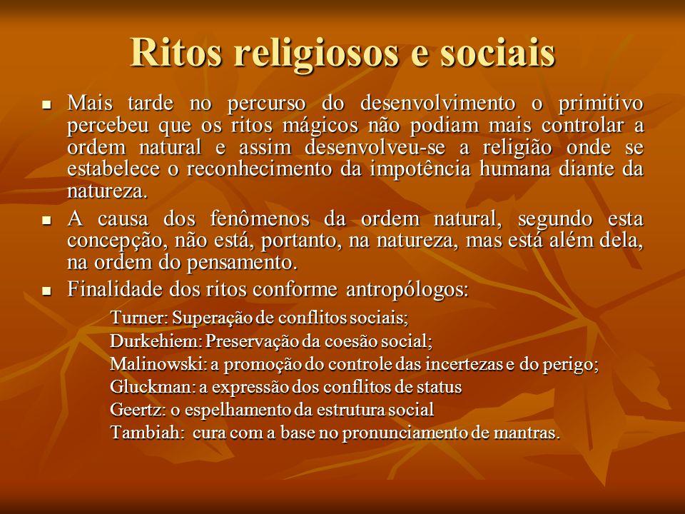 Ritos religiosos e sociais