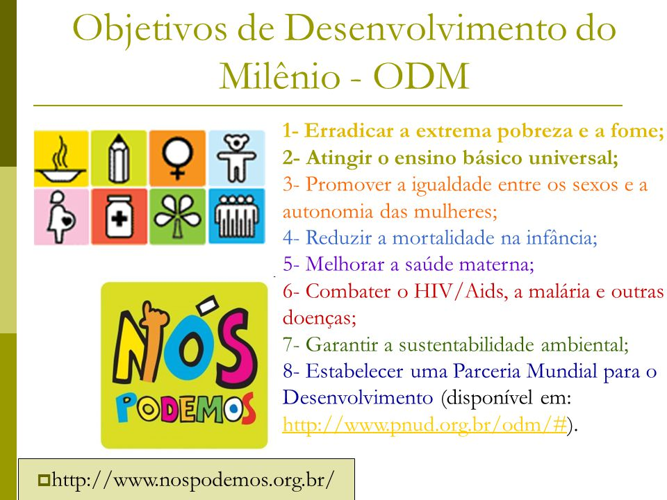 Objetivos de Desenvolvimento do Milênio - ODM